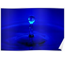 Water Droplet blue Poster