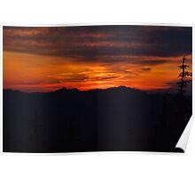 Sunset from Johnson Peak Washington State  Poster