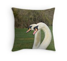 Mute Swans head shot Throw Pillow