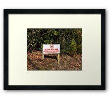 Freerange Children sign Framed Print
