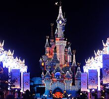 Christmas castle Disneyland, Paris by fine-art-prints