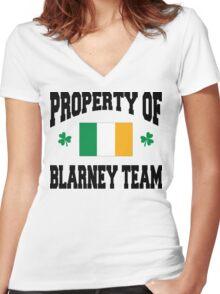 Blarney Women's Fitted V-Neck T-Shirt