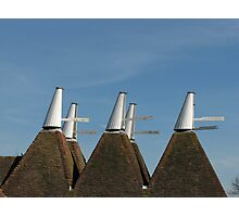Oast House Cowls Photographic Print
