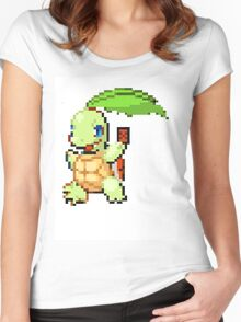 Pokemon and YuGiOh combined into a sprite Women's Fitted Scoop T-Shirt