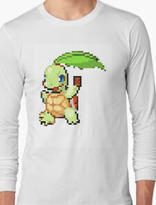 Pokemon and YuGiOh combined into a sprite Long Sleeve T-Shirt