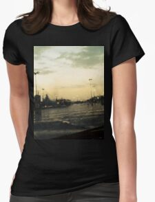 A Rainy Day. Womens Fitted T-Shirt