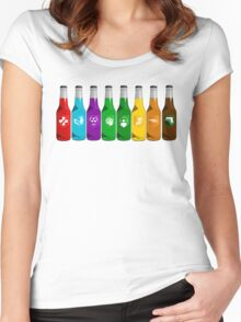 Perks all lined up Women's Fitted Scoop T-Shirt