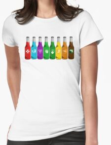 Perks all lined up Womens Fitted T-Shirt