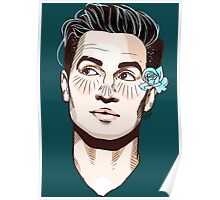 Beebo + Flower Poster