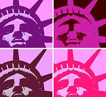 Pop Art Lady Liberty by madeinatlantis