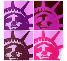 Pop Art Lady Liberty Poster