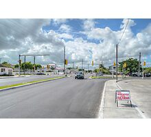 Intersection between Fox Hill Road and Prince Charles Drive in Nassau, The Bahamas Photographic Print
