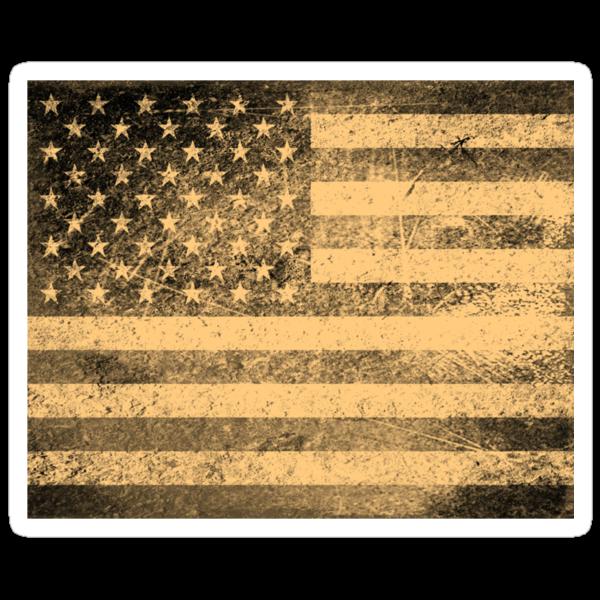 Old American Flag Grunge by Nhan Ngo