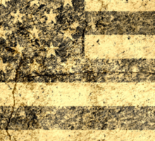Old American Flag Grunge Cracked Wall Sticker