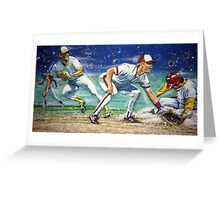First Base Montage Greeting Card