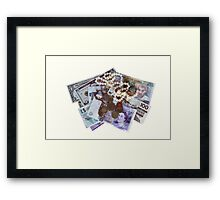 Currency and Jewellery isolated on white Framed Print