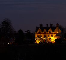 Country House Floodlit by Sue Robinson