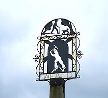 English Village Sign by Sue Robinson