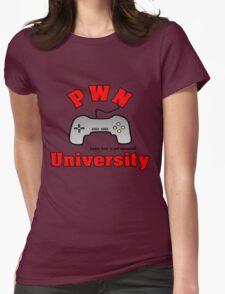 PWN University Gamer gear Womens Fitted T-Shirt