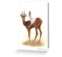 The Faery and the Deer Greeting Card