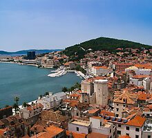 Split Harbour and Town by fg-ottico