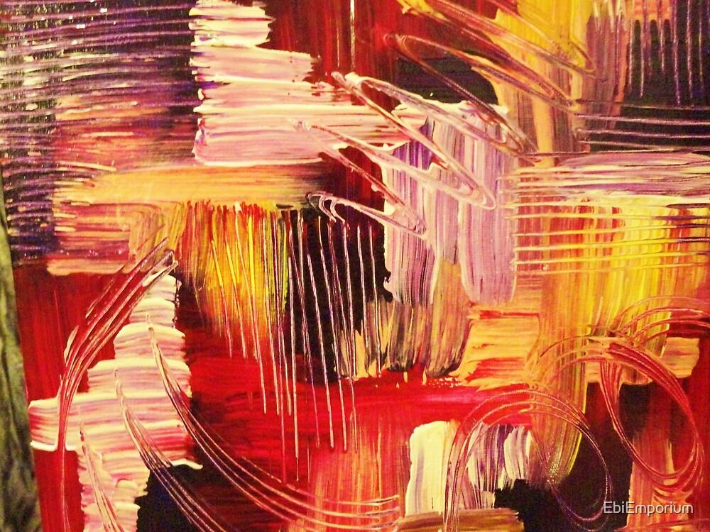 RHAPSODY IN MAGENTA- Beautiful BOLD Modern Abstract Wild Acrylic Painting Crimson Hot Pink Purple by EbiEmporium