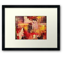 RHAPSODY IN MAGENTA- Beautiful BOLD Modern Abstract Wild Acrylic Painting Crimson Hot Pink Purple Framed Print