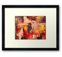 RHAPSODY IN MAGENTA- Beautiful BOLD Modern Abstract Wild Acrylic Painting Crimson Hot Pink Purple Framed Print