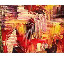 RHAPSODY IN MAGENTA- Beautiful BOLD Modern Abstract Wild Acrylic Painting Crimson Hot Pink Purple Photographic Print