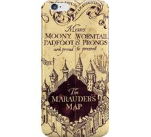 The Marauders Maps castle harry potter iPhone Case/Skin