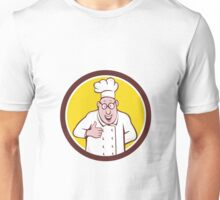 Chef Cook Thumbs Up Circle Cartoon Unisex T-Shirt