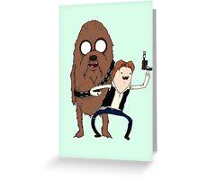 Space Adventure! Mans Best Friend Greeting Card