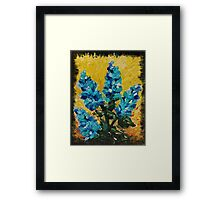 SHADES OF BLOOM - Stunning Acrylic Floral Abstract Modern Home Decor Hyacinths Bold Color Garden  Framed Print