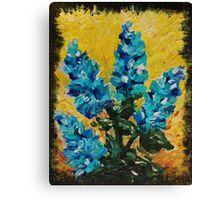 SHADES OF BLOOM - Stunning Acrylic Floral Abstract Modern Home Decor Hyacinths Bold Color Garden  Canvas Print