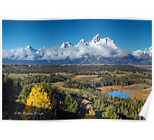 Dusted Grand Teton Range Poster