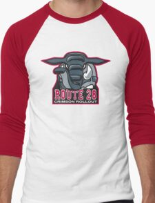 Route 28 Crimson Rollout Men's Baseball ¾ T-Shirt