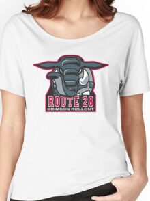 Route 28 Crimson Rollout Women's Relaxed Fit T-Shirt
