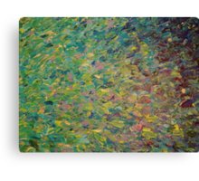 FIELDS OF BLUE - WOW Modern Abstract Shades Blue Green Nature Theme Grass Waves Canvas Print