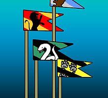 Harry Potter House Flags by jerasky