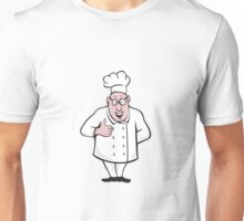 Chef Cook Thumbs Up Isolated Cartoon Unisex T-Shirt