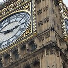 Big Ben Clock Tower, Houses of Parliament, London, England by Richard J. Bartlett