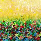 NATURE&#x27;S LIVING ROOM - Gorgeous Bright Bold Nature Wildflower Field Landscape Abstract Art  by EbiEmporium