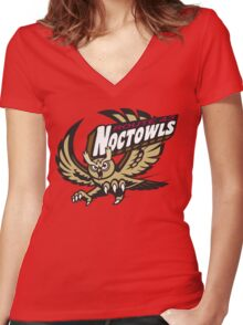 Route 43 Noctowls Women's Fitted V-Neck T-Shirt