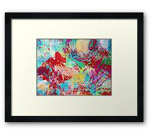 REEF STORM - Fun Bright BOLD Playful Rainbow Underwater Ocean Coral Reef Aquatic Life Framed Print