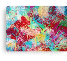 REEF STORM - Fun Bright BOLD Playful Rainbow Underwater Ocean Coral Reef Aquatic Life Canvas Print