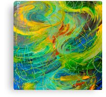 NAUTICAL GALAXY - Beautiful Aquatic Blue Green Ocean Universe Abstract Painting Gift Decor Canvas Print