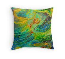 NAUTICAL GALAXY - Beautiful Aquatic Blue Green Ocean Universe Abstract Painting Gift Decor Throw Pillow