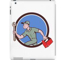 Mechanic Spanner Toolbox Running Circle Cartoon iPad Case/Skin