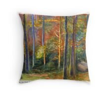 Afternoon in the Black Forest Throw Pillow