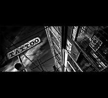 Tattoo Parlour on Black by Brian Carson